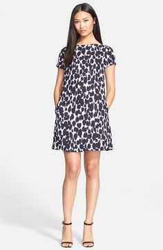 kate spade new york leopard print shift dress available at #Nordstrom