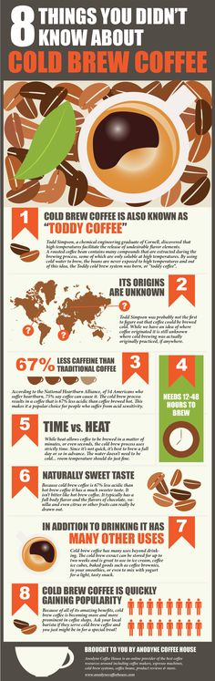 Eight Awesome Things You May Not Have Known About Cold Brewed Coffee [Infographic] is part of Eight Awesome Things You May Not Have Known About Cold Brewed If you still have not discovered cold brew - I Love Coffee, Coffee Break, Iced Coffee, Coffee Drinks, Coffee Shop, Espresso Coffee, Barista, Nitro Coffee, Coffee Infographic