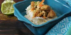 Coconut Lime Risotto with Peanut Chicken   Leap of Taste