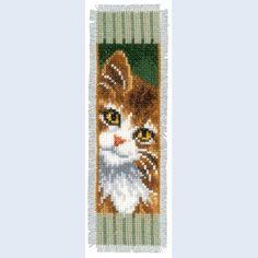 Cat and Dog bladwijzer: borduurpakket met telpatroon