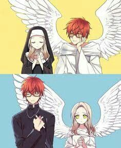 I'm your angel and you are my angel. How lovely... <3