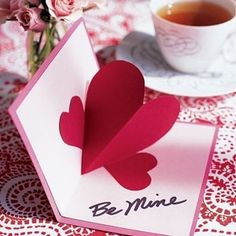 Kids enjoy making valentine crafts and they will have a wonderful time doing this. So enjoy this valentine's day with your beloved by doing these crafts. Pop Up Valentine Cards, Valentines Day Hearts, Pop Up Cards, Valentine Day Crafts, Happy Valentines Day, Valentine Nails, Valentine Ideas, Valentine Heart, San Valentin Ideas