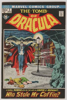 Tomb of Dracula V1 2.  VF.  May 1972.  Marvel by RubbersuitStudios #tombofdracula #comicbooks