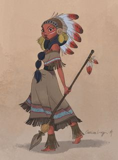 carlosluzzi:  the Warrior! I did this Native American Warrior at...
