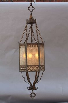 Gothic Spanish Revival Wrought Iron Chandelier Light