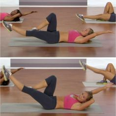Weighted Bicycle - The Best Abs Exercises for a Flat Stomach - Shape Magazine