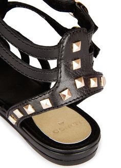 MANGO - Studded leather sandals