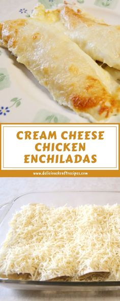 CREAM CHEESE CHICKEN ENCHILADAS Tostadas, Tacos, Empanadas, Chorizo, Arroz Congri, Chicken Enchildas, Creamy Chicken Enchiladas, Chicken Cheese Enchiladas, Salsa