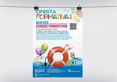 Cartel Oferta Formativa 2013 del Área de la Juventud del Ayuntamiento de Málaga