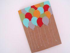 Birthday Card, Happy Birthday, Balloons, Stationery ((ferrever))