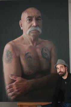 PHOTO-REALISTIC PORTRAITS DRAWN WITH CHALK : Ruben Belloso Adorna