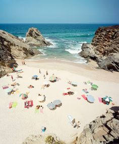 France - I have always wanted to travel to France! I like the beach umbrellas!