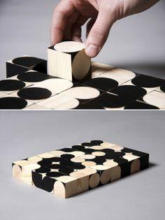 Woodworks by Egor Kraft, similar to Chris Clarke's typecraft.