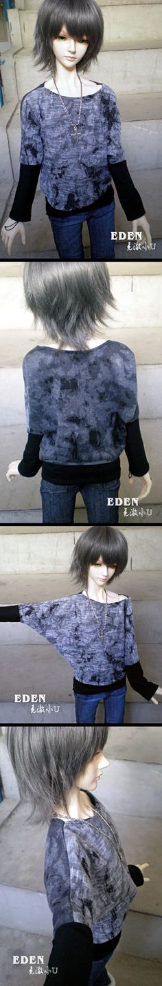 [EDEN] 1/4 1/3 BJD doll clothes before and after the two wear long-sleeved T bat two colors - Taobao