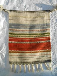 "Design Elsa Montell-Saanio Finland ""Ruska"" vävnad 70x54 cm exkl tofsar Amazing Architecture, Finland, Elsa, Weaving, Blanket, Design, Loom Weaving, Blankets"