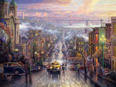 Urban Landscape Thomas Kinkade. Discussion on LiveInternet - Russian Service Online Diaries