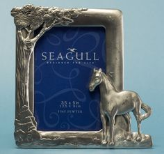 Seagull Pewter Picture Frame, dated Pewter, Picture Frames, Pictures, Life, Design, Tin Metal, Portrait Frames, Photos, Tin