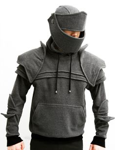 Dark Grey Duncan Armored Knight Hoodie100 Handmade by iamknight- omg my brothers and I all need one...NOW!