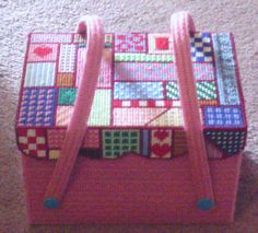 Sewing Basket made in Plastic Canvas