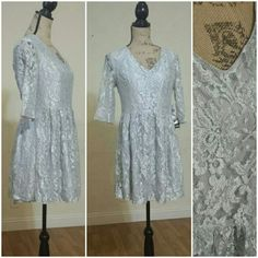 Silver/Grey Dress Silver, lace layer and a little sparkle dress still has tag.  ...Order will be shipped out the next business day...Your business means the world to us...Thanks for looking. Dresses