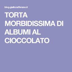 TORTA MORBIDISSIMA DI ALBUMI AL CIOCCOLATO