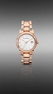 Burberry 34mm Rose Gold-Plated Watch