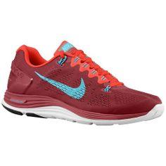 Nike LunarGlide + 5 - Men's - Running - Shoes - Game Royal/Metallic Silver/Obsidian/Laser Orange