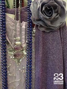 Perlas y flor de tela, #23CB Lagasca 83, Madrid