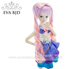 89.99$  Watch now - http://alio4r.worldwells.pw/go.php?t=32764900710 - 1/3 BJD Doll 60cm 19 jointed dolls Salon New Star Girl doll ( Free Eyes + Hair + Makeup + Clothes + Shoes )  EVA BJD DA001-30 89.99$