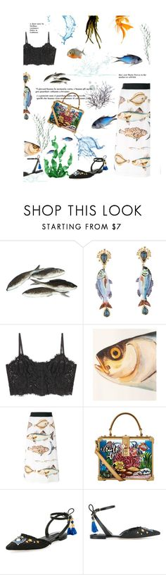 """""""La pescivendola"""" by stellina-from-the-italian-glam ❤ liked on Polyvore featuring Dolce&Gabbana, dolcegabbana and mariateresa"""