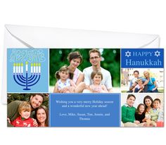 Photo Cards : Hanukkah Christmas Holiday Photo Card Template