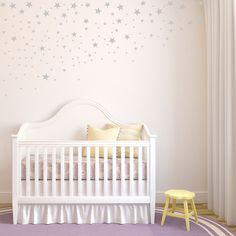 Scattered & Falling Stars - Set of 100 - Star Wall Decals