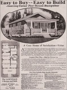 Montgomery Ward - kit house - Lawndale - 1930 traditional bungalow