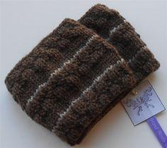 Dark Brown Ear Warmer Headband Knitted Headwraps Ear Warmers