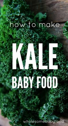 Kale is a hot new superfood for Learn how to make kale baby food at home with these easy baby food recipes. Wholesome Baby Food, Healthy Baby Food, Toddler Meals, Kids Meals, Toddler Food, How To Make Kale, Making Baby Food, Solids For Baby, Baby Puree