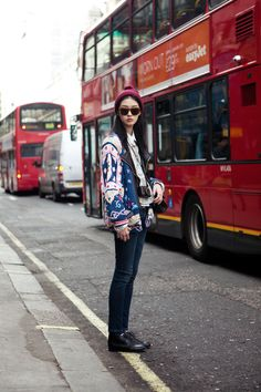 model Kang Soyoung in London. #streetfashion #modelsoffduty