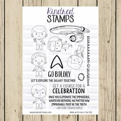 BACKORDER 6x8 Space Explorers Clear Stamp Set - Kindred Stamps