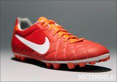 Nike Tiempo Legend IV Football Boots - Sunburst/White/Crimson