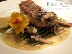 Buon Apps - Otley, Leeds: Red snapper with champignon mushroom,,lemon juice,white wine and parsley sauce