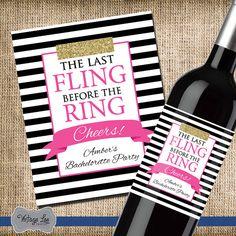 Bachelorette Party Wine Label, Bachelorette Party Favor, Bachelorette Wine Label, Bachelorette Party Gift, Bachelorette Decorations, Party