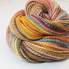 Handspun Yarn Circus 235 Yards by valentinearts on Etsy Valentines Art, Yarn Stash, Knit Picks, Loom Weaving, Yarn Colors, Couture, Knitting Yarn, Fiber Art, Crochet
