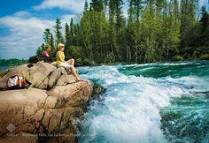 Roar of the Nistowiak Falls in Lac La Ronge Provincial Park