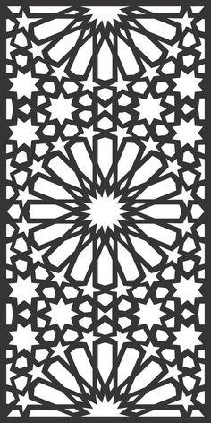 DXF CDR File For CNC Plasma Laser Cut Doors all design good quality and tested at cnc) Metal Tree Wall Art, Metal Art, Stencil Patterns, Pattern Art, Art Patterns, Motifs Islamiques, Motif Arabesque, Laser Cut Panels, Islamic Art Pattern