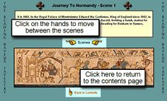 Scene-by-scene viewing of the Bayeux Tapestry. Awesome for kids studying medieval art and/or the Norman Conquest.