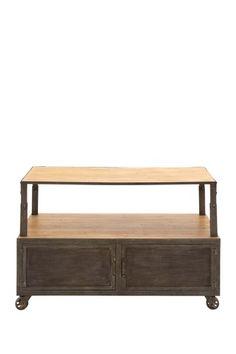"""Wood Metal Media Table by Rustic Vintage  46""""W x 19""""D x 31""""H  ($1,005.00)  $449.00  @HauteLook"""