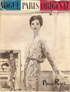 Fabulous Uncut Vintage 1950s Vogue Paris by NostalgieVintage