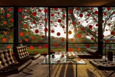 Philip Johnson's Glass House Featuring Yayoi Kusama's Exhibition Will be your…