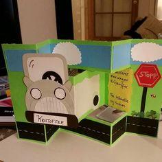 Card Car Boy Road