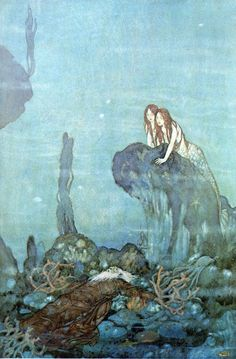 Edmund Dulac- love how he did red- headed mermaids!