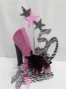 High Heeled Shoe, Zebra 50th,Birthday Centerpiece